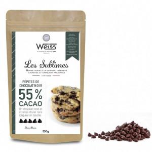 Pépites de Chocolat Noir 55% 250g Weiss