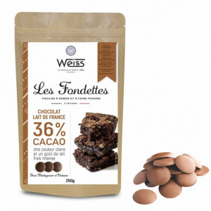 Chocolat au Lait 36% Fondettes 250g Weiss