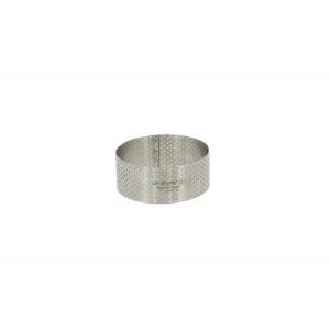 Cercle à Entremets Perforé Ø 5,5 cm x H 3,5 cm de L'école Valrhona De Buyer