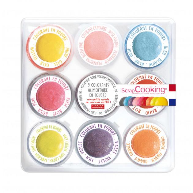 Kit Colorant Alimentaire en Poudre 15,8 g (x9) Scrapcooking