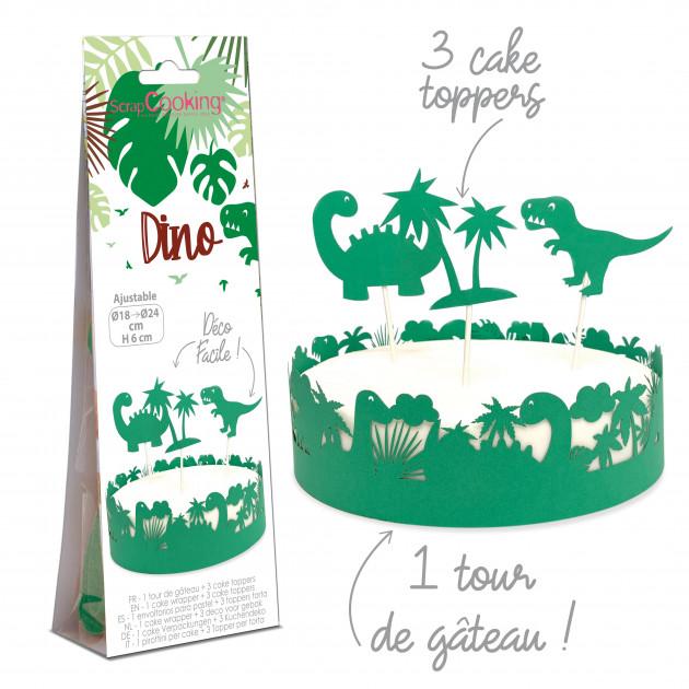 Kit Décor Gâteau Dinosaure (4 pièces) Scrapcooking