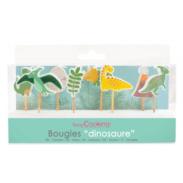 Bougie Dinosaure 7,5 cm (x8) Scrapcooking