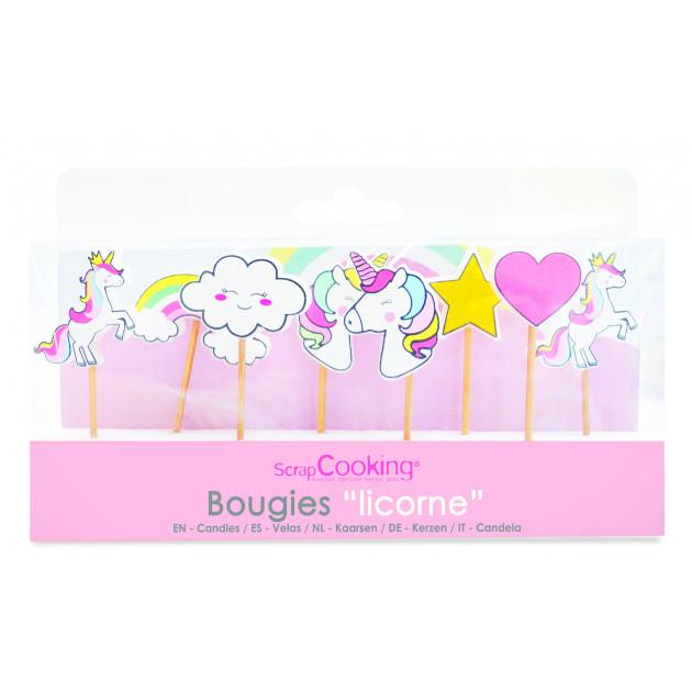 Bougie Licorne 7 cm (x8) Scrapcooking