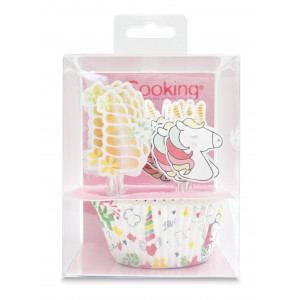 24 Caissettes Cupcakes + 24 Cake Toppers Licorne Scrapcooking