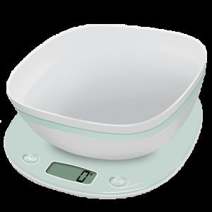 Balance de Cuisine et Bol Macaron Pistache Terraillon