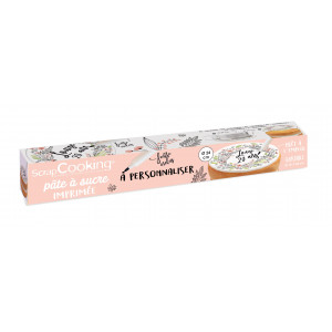 Pâte à Sucre Fleurs à Personnaliser Ø 24 cm 110 g Scrapcooking