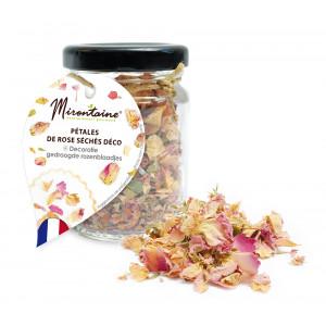 Pétales de Rose Séchées Alimentaires 4,5 g Mirontaine