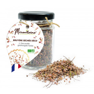 Bruyère Fleurs Séchées Comestibles Bio 11 g Mirontaine