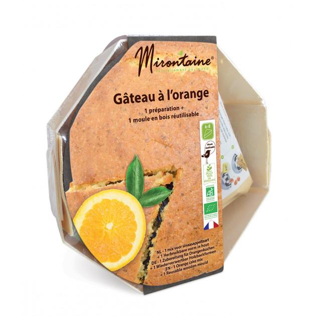Préparation Bio Gâteau à l'Orange + Moule en Bois Mirontaine
