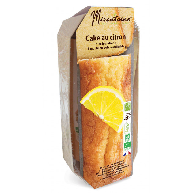 Préparation Bio Cake au Citron + Moule en Bois Mirontaine