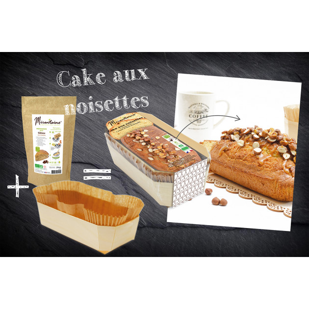 Préparation Gâteau Bio + Moule Bois Biodégradable