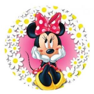 Disque Azyme 21 cm Minnie Fleurs