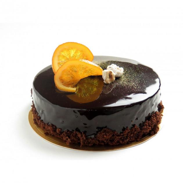 Entremets chocolat realise grace a un cercle a entremets