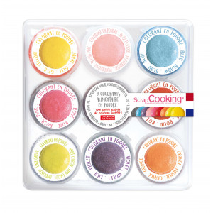 Kit Colorant Alimentaire Naturel en Poudre 16,5 g (x9) Scrapcooking