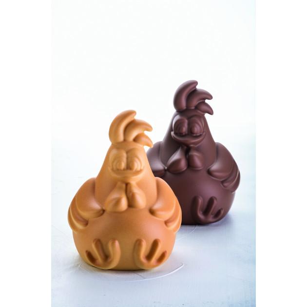 Moule Chocolat Poule Rafael 13,8 x 13,2 cm x H 18 cm (x2) Pavoni