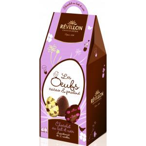Oeufs Chocolat Lait et Noir Fourrés Assortiment 190g Révillon
