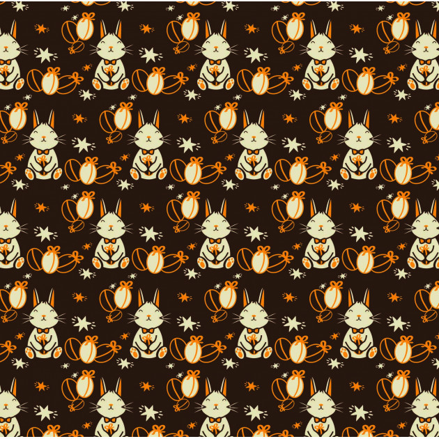 Feuille Transfert Chocolat Lapin de Pâques 250x400 mm (x3) Florensuc