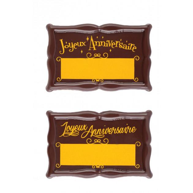 Plaque Chocolat Joyeux Anniversaire à Graver x18 Florensuc