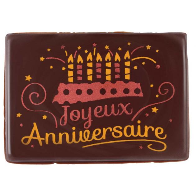 Plaque Chocolat Joyeux Anniversaire x48 Florensuc
