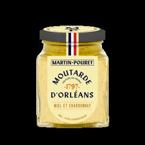 Moutarde d'Orléans Miel et Chardonnay 95g Martin Pouret
