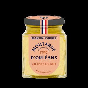 Moutarde d'Orléans aux Epices des Indes 95g Martin Pouret