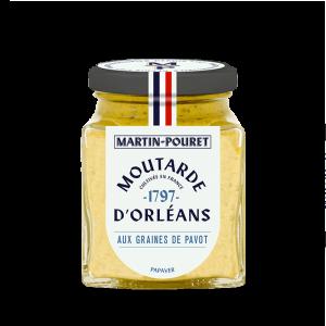 Moutarde d'Orléans aux Graines de Pavot 95g Martin Pouret
