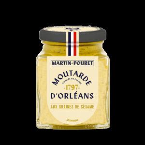 Moutarde d'Orléans aux Graines de Sésame 95g Martin Pouret