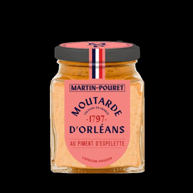 Moutarde d'Orléans au Piment d'Espelette AOP 95g Martin Pouret