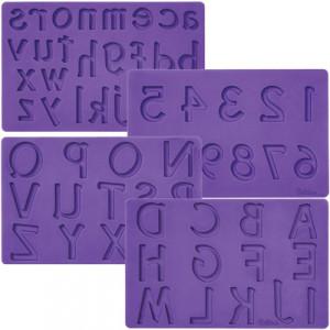 Moule Pâte à Sucre Lettres et Chiffres x4 Wilton