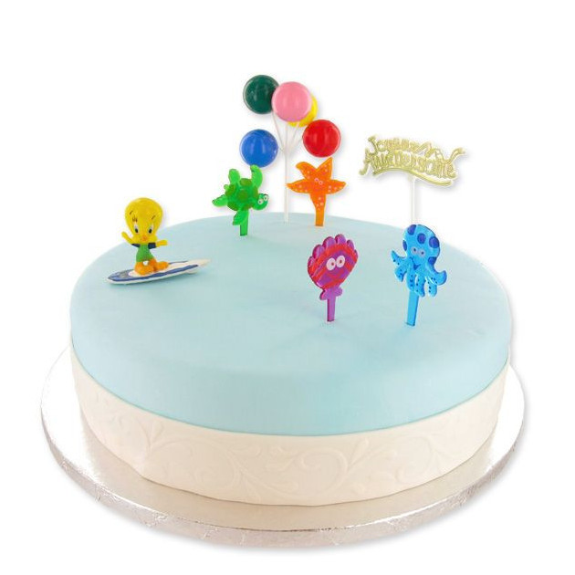 Kit Decor Gateau Titi Surfeur (7 pieces)