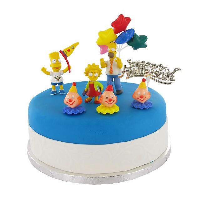 Kit Decor Gateau Les Simpson (8 pieces)