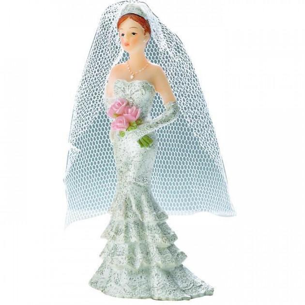 FIN DE SERIE Figurine Mariage Mariée 11 cm