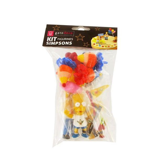 Decorations pour Gateau d'anniversaire Les Simpson