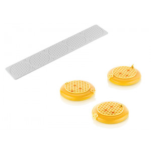 Moule Silicone Décor Alvéoles Ø 7,5 cm x H 0,35 cm (x5) Silikomart Professional