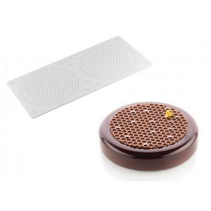 Moule Silicone Décor Alvéoles Ø 14 à 18 cm x H 0,35 cm (x2) Silikomart Professional