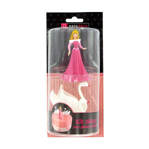 Packaging du Kit Decor Gateau Princesse Aurore et ses Cygnes