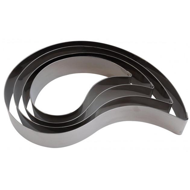 Cercle à Mousse Inox Virgule 28 x 19 cm x H 4,5 cm Gobel