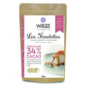 Chocolat Blanc 34% Fondettes 250g Weiss