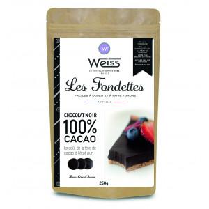 Chocolat Noir 100% Fondettes 250g Weiss
