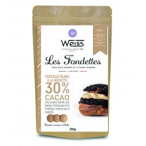 Chocolat Blanc Noisette 30% Fondettes 250g Weiss