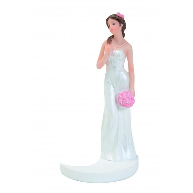 Figurine Mariage Mariée Brune 15 cm