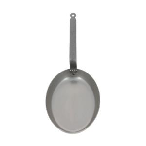 Poêle à Poisson Carbone Plus 40 cm, Ovale, De Buyer, Tôle Acier