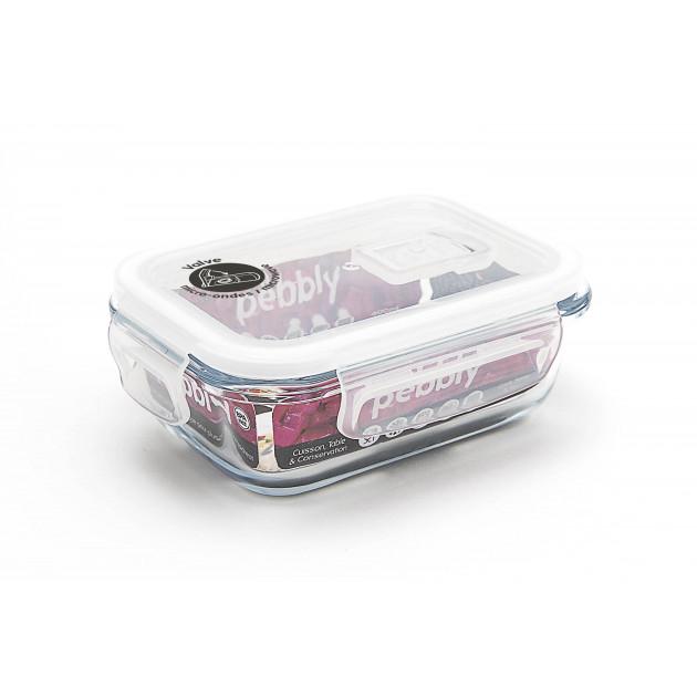 Boîte alimentaire verre et plastique Pebbly - Mise en situation