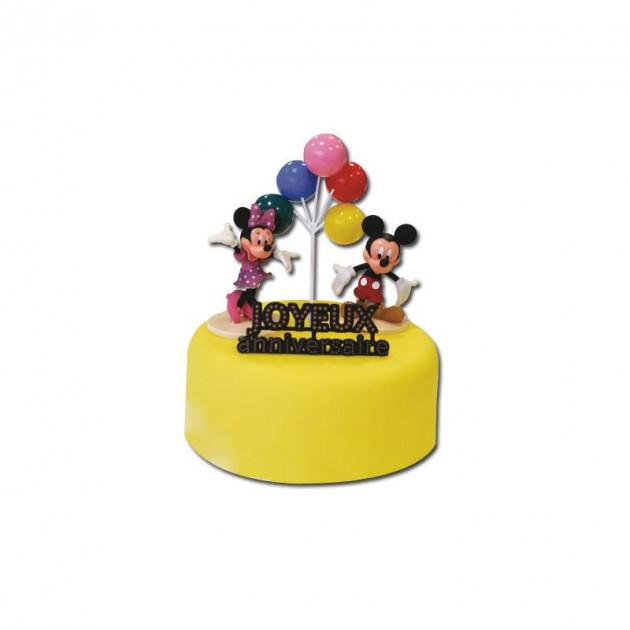Kit Decor Gateau Mickey et Minnie (4 pieces)