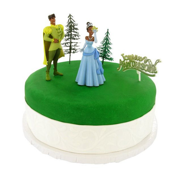 Kit Decor Gateau La Princesse et la Grenouille (5 pieces)