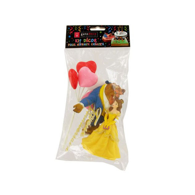 Packaging des Decorations pour Gateau d'anniversaire Theme Princesse
