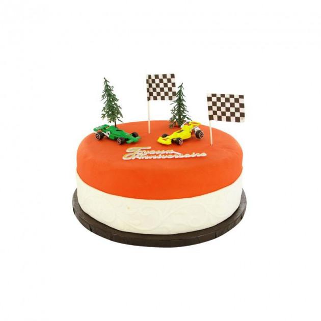 FIN DE SERIE Kit Decor Gateau Formule 1 (7 pieces)