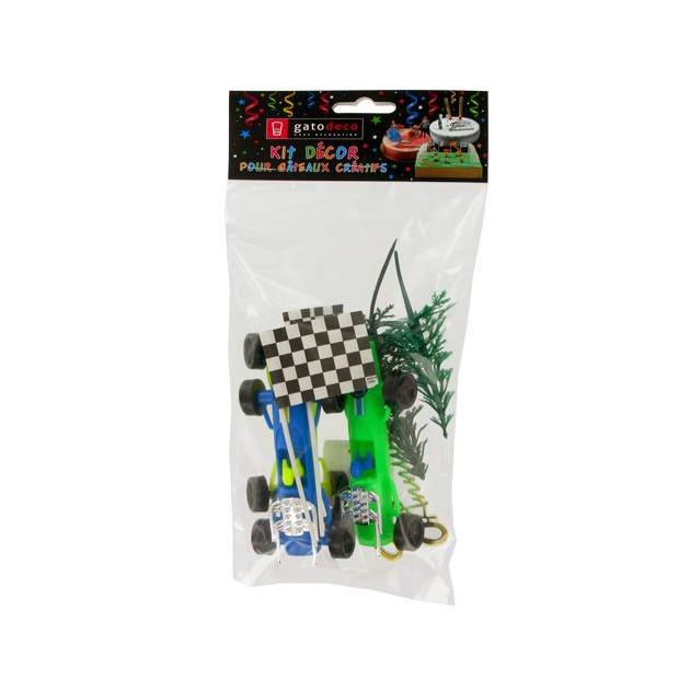 Kit Decor Gateau Formule 1 (7 pieces)