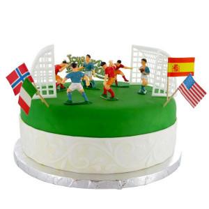 Kit Décor Gâteau Football (10 pièces)