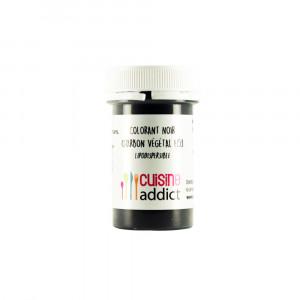 FIN DE SERIE Colorant alimentaire Noir Charbon Végétal E153 5g Poudre Lipodispersible Cuisineaddict